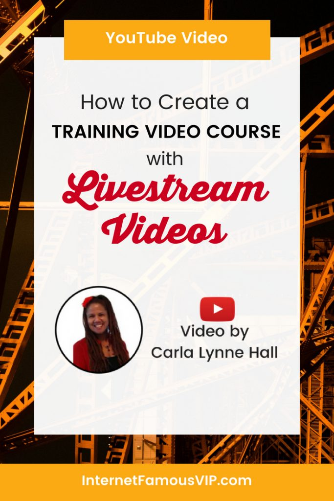 Create A Training Video Course with Livestream Videos