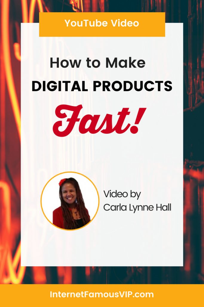 How to Make Digital Products Fast