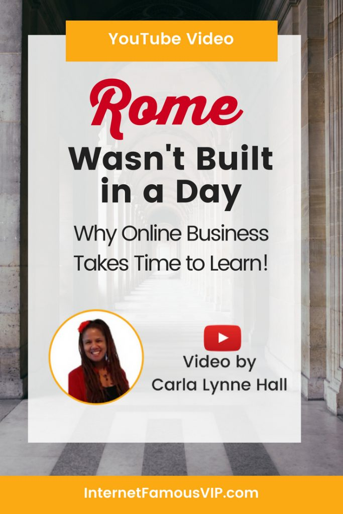 Rome Wasn't Built in a Day!