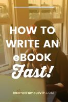 How to Write an eBook Fast